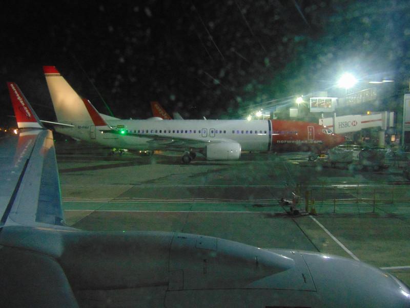 Newly built Norwegian Air Shuttle Boeing 737-800 EI-FHJ at London Gatwick airport.