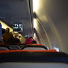 Norwegian Air International Boeing 737-800 EI-FHP interior at Copenhagen Airport with my flight D82909 to London Gatwick.