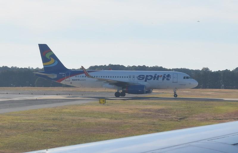 Spirit Airlines Airbus A320 N621NK at Atlanta Airport.
