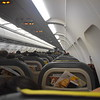 Vueling Airbus A320 EC-LZZ interior at Amsterdam Schipol with my flight to London Luton, VY8406.