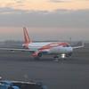 EasyJet Airbus A320 HB-JXF at Amsterdam Schipol Airport.