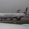 "Virgin Atlantic Airbus A330 G-VUFO ""Lady Stardust"" at London Heathrow."