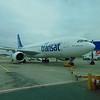Air Transat Airbus A330 C-GTSJ at Birmingham Airport on a flight to Toronto.