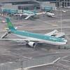 """Aer Lingus Airbus A330 EI-EAV """"St. Ronan"""" at Dublin Airport."""