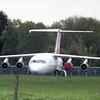 Withdrawn Air Libya Avro RJ SA-FLA at Cranfield Airport, 01/05/2018.