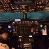CityJet Avro RJ85 EI-RJT cockpit interior at London City Airport.