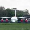 Withdrawn Swiss Avro RJ G-CFAC at Cranfield Airport, 01/05/2018.