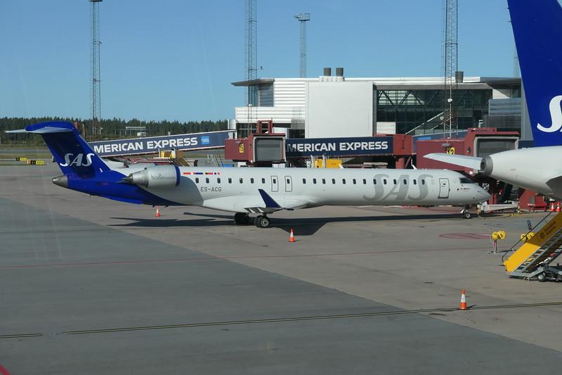 SAS Scandinavian Airlines Bombardier CRJ-900 ES-ACG at Stockholm Arlanda on an Ronneby flight, 21.09.2020.