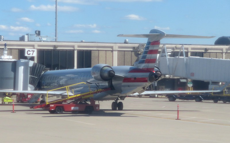 American Eagle (PSA Airlines) Bombardier CRJ-900 N593NN at Cleveland Hopkins Airport, 21.06.2019.