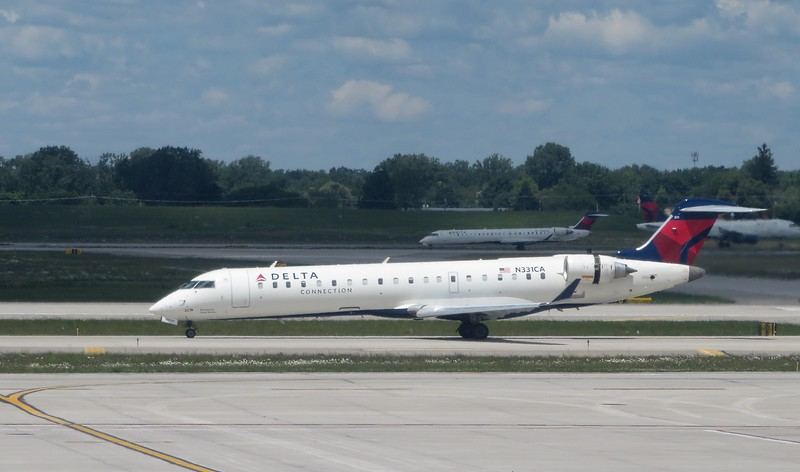 Delta Connection (GoJet Airlines) Bombardier CRJ-700 N331CA at Detroit Metropolitan Airport, 21.06.2019.