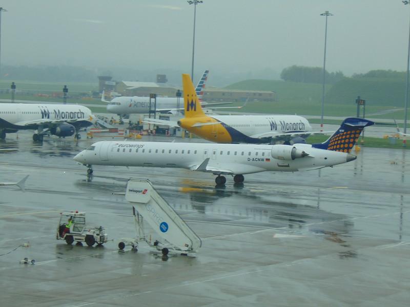 Eurowings Bombardier CRJ-900 D-ACNW at Birmingham Airport.