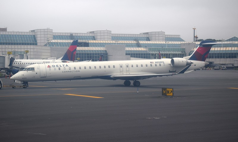 Endeavor Air Delta Connection Bombardier CRJ-900 N331PQ at New York LaGuardia Airport.