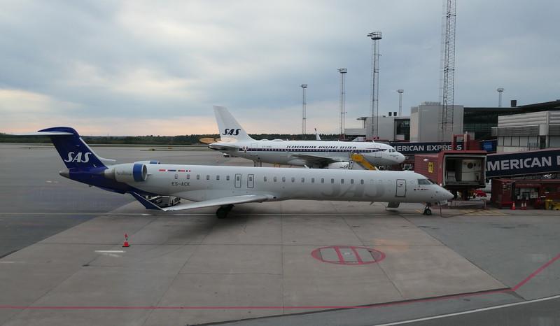 SAS Scandinavian Airlines Bombardier CRJ-900 ES-ACK at Stockholm Arlanda on an Arvidsjaur flight, 21.09.2020.