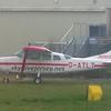 Skydive Jersey Cessna 206 G-ATLT at Jersey Airport, 10.04.2018.