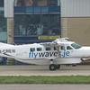 Fly Waves Cessna 208 Grand Caravan 2-CREW at Jersey Airport, 10.04.2018.