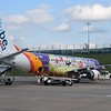Flybe special livery Embraer E195 G-FBEN at Birmingham Airport.