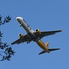Aurigny Embraer E195 descending into Guernsey Airport.