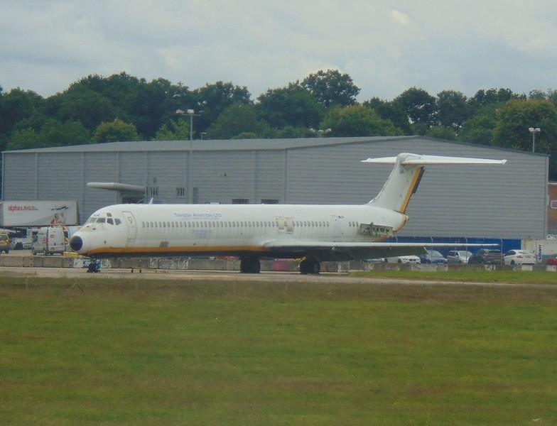 Ex Itali Airlines McDonnell Douglas MD-80 I-DAVA at Gatwick Airport.