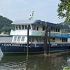 The Pittsburgh Explorer ferry on the North Shore of the Monongahela River.