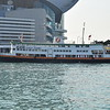 """First Ferry """"Xin Fa"""" at Hong Kong Island Central ferry port."""