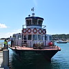 """Travel Trident catamaran ferry """"Herm Trident V"""" at St. Peter Port having arrived from Herm."""