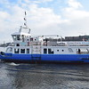 """The Shields Ferry """"Spirit of the Tyne"""" approaching North Shields dock."""