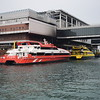 The Macau Ferry Terminal in Hong Kong with the Turbojet catamaran that brought me over.