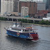 Paddle Boat clipper tours on the Monongahela River, Pittsburgh.