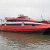 TurboJet catamaran at Macau Ferry Port.