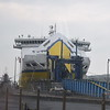 """DFDS Transmanche Ferries liveried """"Seven Sisters"""" at Newhaven Docks on a Dieppe crossing."""
