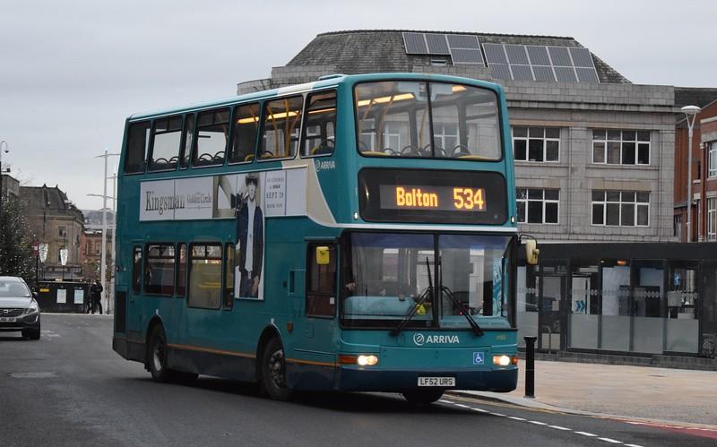 Arriva DAF Plaxton President LF52URS 4183 at Bolton Interchange on the 534, 18.11.17.