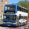 Stagecoach Dennis Trident Plaxton President AE53TZJ 18057 in Bedford on the 6 to Brickhill, 01.05.2018.