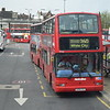 Metroline Volvo Plaxton President LK04CVC VP542 at Golders Green station on the 260 to White City.