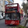 Oasis Tours City Sightseeing Malta open top Dennis Trident Plaxton President KPY023 in St. Julian's.