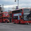 GoAhead London General ADL Enviro 400 MMC YY66OYC EH93 and Park Royal AEC Routemaster NML604E RML2604 in Wimbledon on the 840 tennis championships service.
