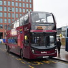 Reading Buses Claret branded Enviro 400 MMC YX64VRL 751 at the station on the 21 to Lower Earley.