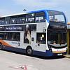 Stagecoach Manchester ADL Enviro 400 MMC SN16OUH 10592 at Ashton-Under-Lyne.