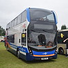 "Stagecoach ""activ8"" branded ADL Enviro 400 MMC SN66VVL 10700 at the Alton bus rally."