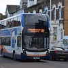 Stagecoach 'Breeze' branded Enviro 400 MMC YN16MVB 15263 in Broadstairs on the 8A to Canterbury.