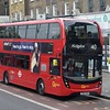 GoAhead London ADL Enviro 400 MMC SN66WOB EH116 in Camberwell on the 40 to Aldgate.