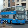 Ensign Bus Volvo Wright Eclipse Gemini LX15GOU in Worthing on rail replacement.
