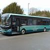 Alexander Dennis liveried demonstration Enviro 200 MMC YX65RLO in Crawley on loan to Metrobus.