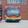Galleon Travel Trustybus Scania East Lancs Myllennium NNZ7336 (ex YR52VFH) at Harlow on the 419.