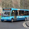"Arriva ""Frequenta"" branded Optare Solo YJ08XBU 2838 in Durham on the 49 to Brandon."