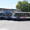 Stagecoach Optare Solo AE06TWV 47351 with a Dennis Dart and ADL Enviro 400 AE11FUG 19890 at Bedford bus station.