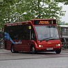 Redline Optare Solo MX58KYR in Aylesbury on the Water Rider 6 to Watermead.
