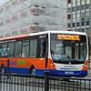 Centrebus 'Hospital Hopper' Plaxton Centro YJ58FFH in Leicester on the UHL to Hamilton Tesco.