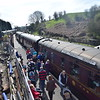 LMS carriages at Bridgnorth on the SVR.