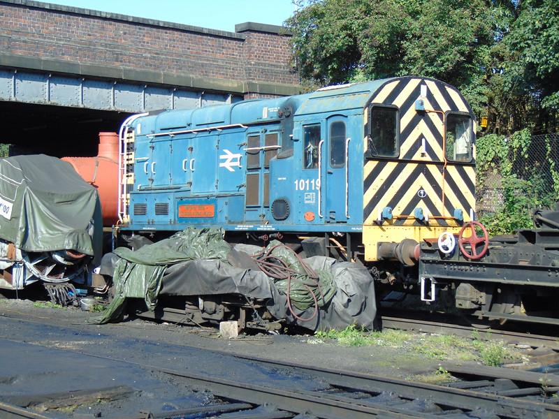 Class 10 Shunter no. 10119 at Loughborough Central, GCR.