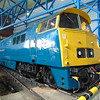 BR Blue Class 52 'Western' no. D1023 'Western Fusilier' at the National Railway Museum in York.